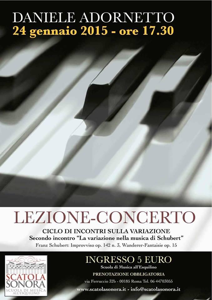 """Lezione Concerto – Secondo incontro """"La variazione in Schubert"""""""