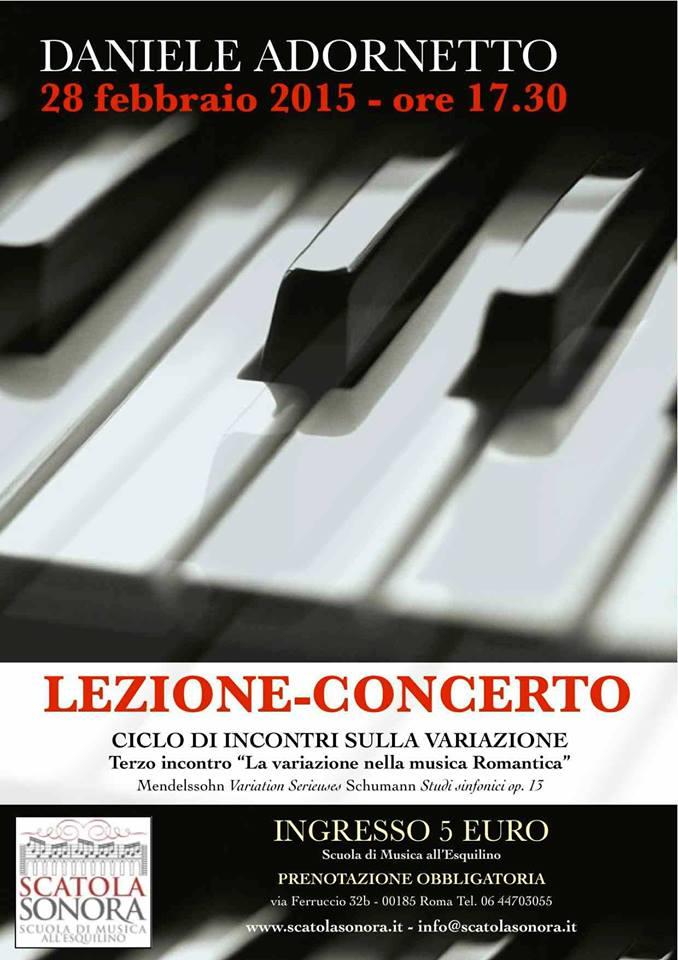 """Lezione Concerto – Terzo incontro """"La variazione romantica: Mendelssohn e Schumann"""""""