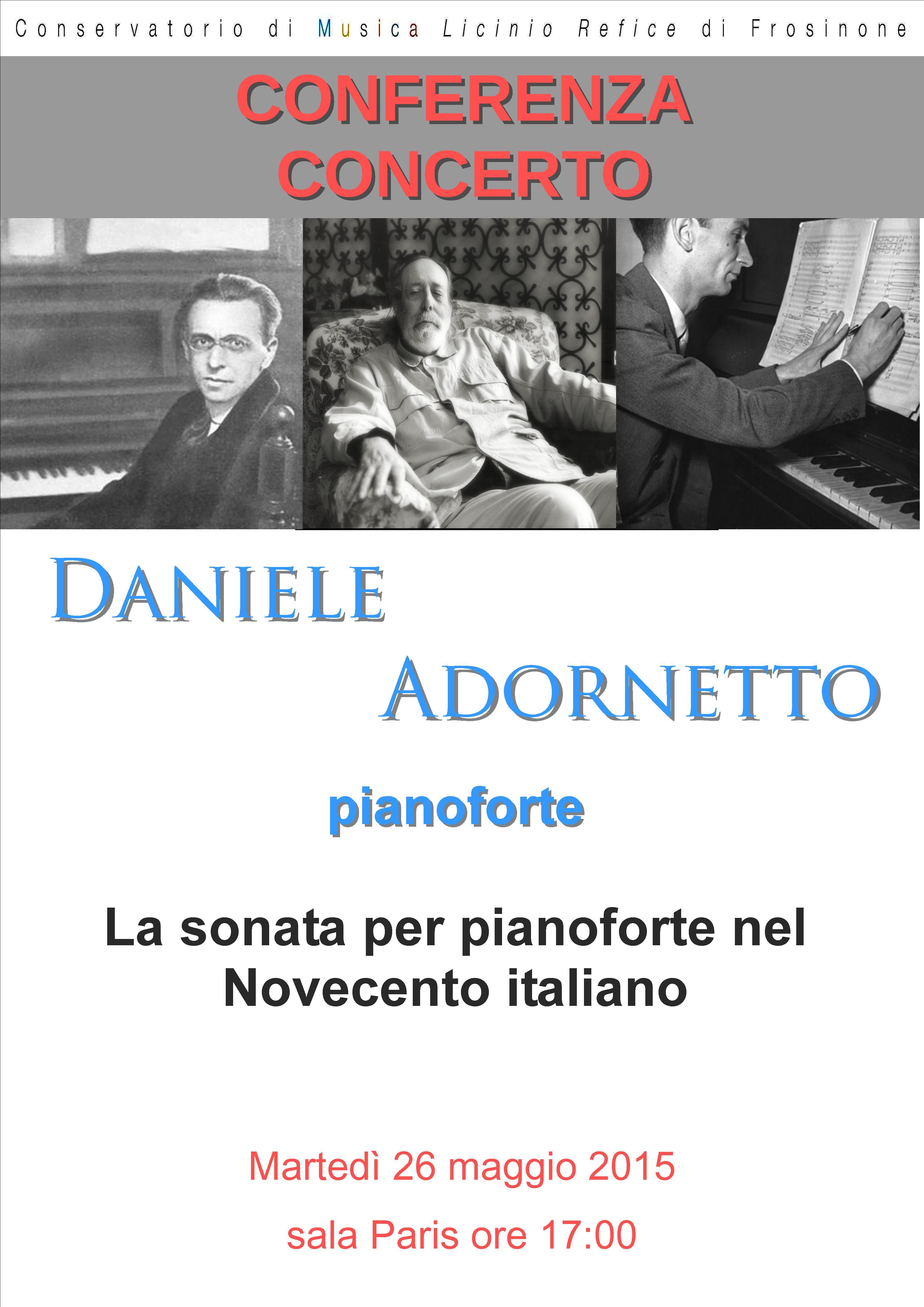 Conferenza – Concerto  26 maggio 2015