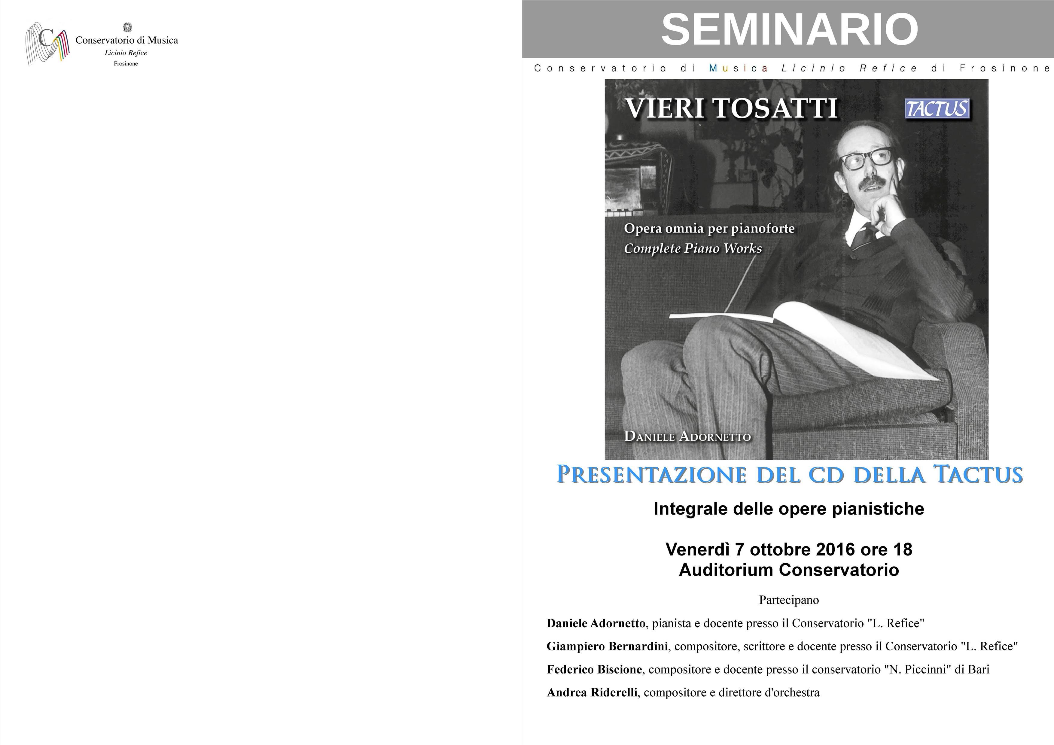 Presentazione cd conservatorio L. Refice – 7 ottobre 2016