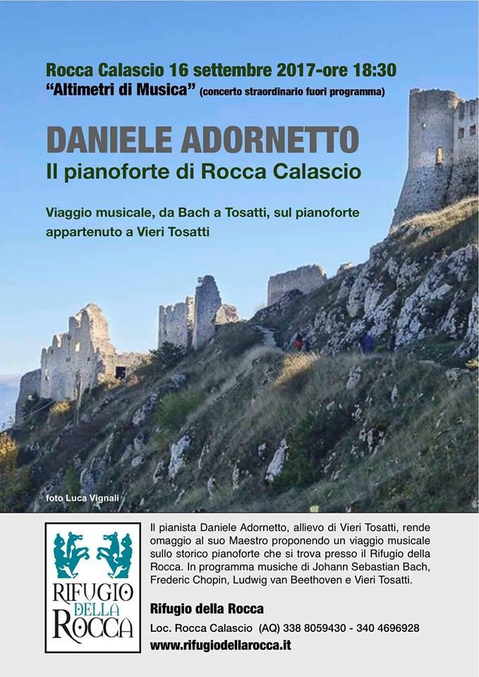 16 settembre 2017 – Daniele Adornetto suona lo storico pianoforte di Vieri Tosatti