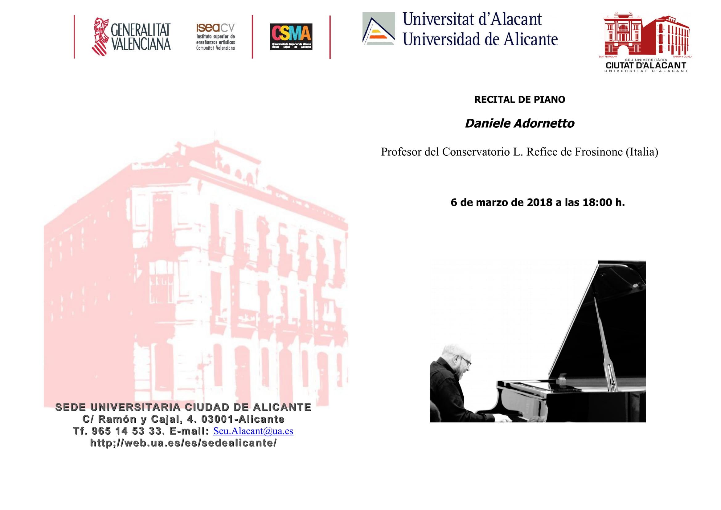 Concerto Università di Alicante (Spagna)